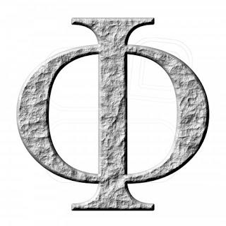 letra phi